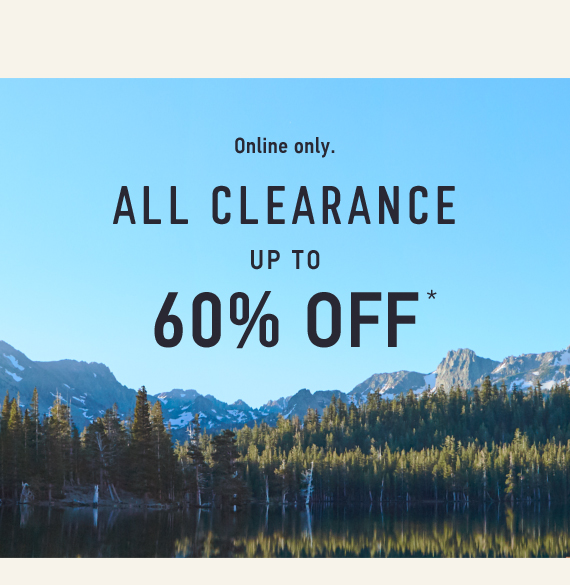 All Clearance Up to 60% off*