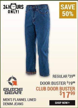 Guide Gear Men's Flannel Lined Denim Jeans