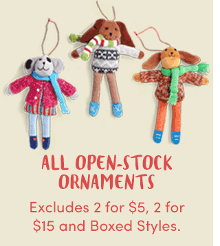 BOGO All Open-Stock Ornaments