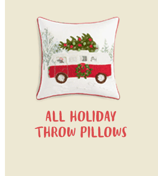 BOGO All Holiday Throw Pillows