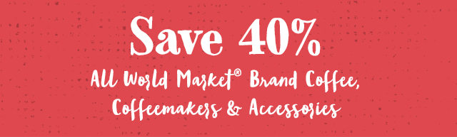 Save 40% All World Market Brand Coffee