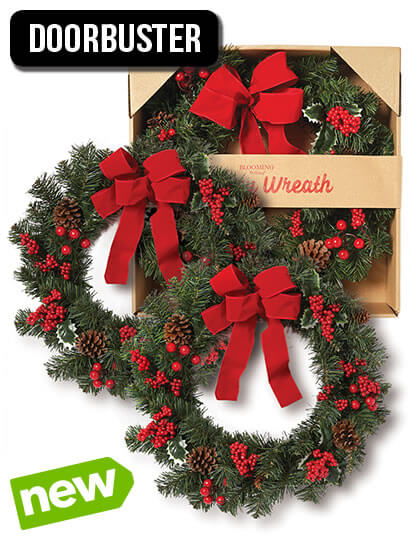 Boxed Christmas Wreath.