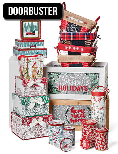 Holiday Baskets and Storage.