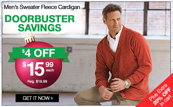 Men's Sweater Fleece Cardigan