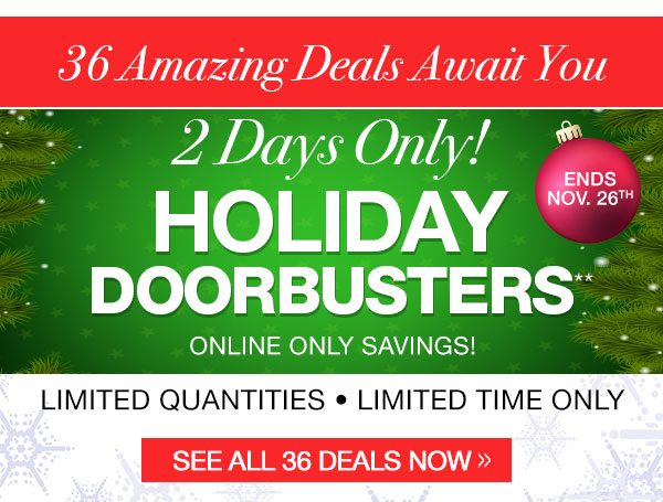 Holiday Doorbusters