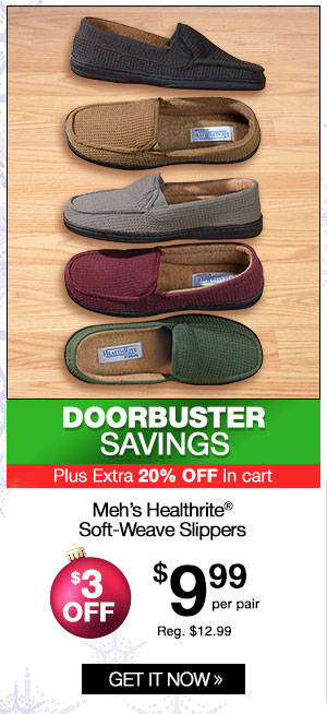 Men's Healthrite Soft-Weave Slippers
