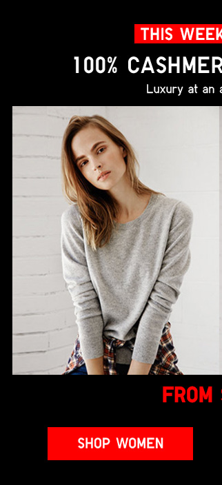 THIS WEEKEND ONLY -  WOMEN 100% CASHMERE SWEATERS FROM $39.90 - Shop Women