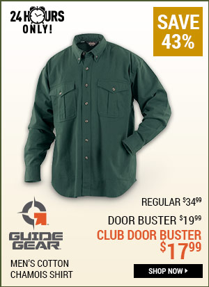 Guide Gear Men's Cotton Chamois Shirt