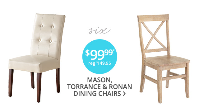 Select dining chairs on sale.