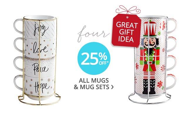Mugs and mug sets.