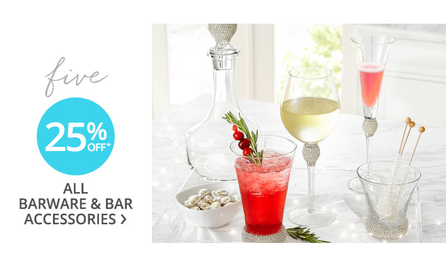 Barware and accessories.