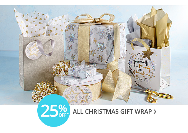 Christmas gift wrap on sale.