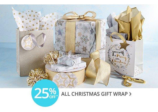 Christmas gift wrap on sale.
