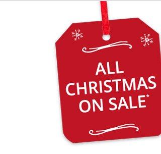 All Christmas on sale.