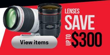 Canon Lens Savings