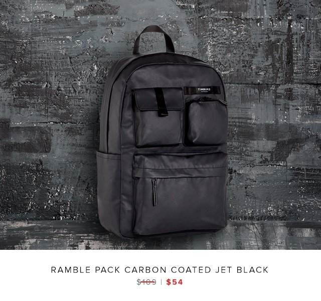 Ramble Pack Carbon Coated Jet Black was $109 | now $54