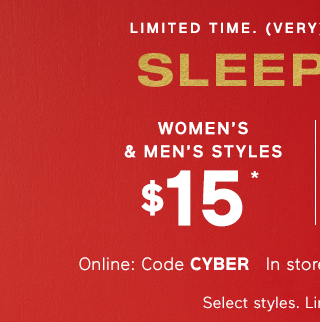SLEEPWEAR | WOMENS & MENS STYLES $15*