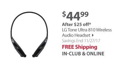 LG Tone Ultra 810 Wireless Audio Headset