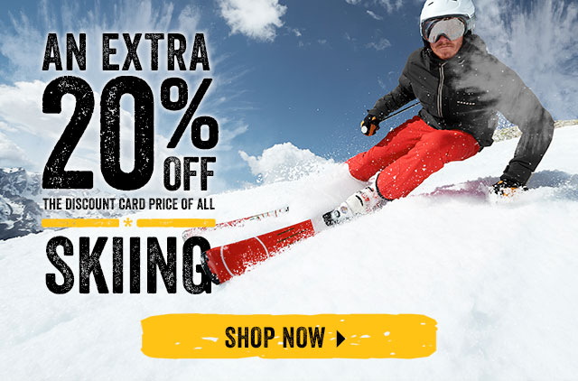 An Extra 20% off the Discount Card price of Skiing