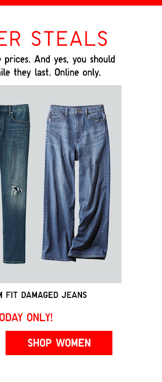 CYBER STEALS TODAY ONLY! - Wide fit jeans + Slim-Fit Damaged jeans -- Shop Women