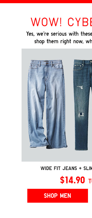CYBER STEALS TODAY ONLY! - Wide fit jeans + Slim-Fit Damaged jeans -- Shop Men