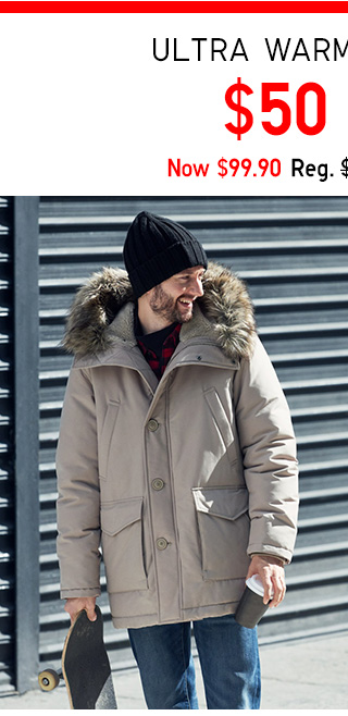 $50 OFF Ultra Warm Down Coat - Shop Men