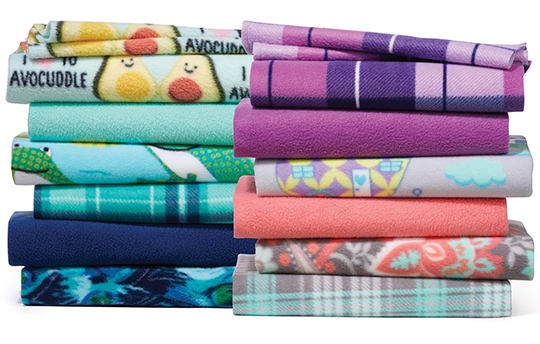 Anti-Pill and Blizzard Fleece Prints and Solids.