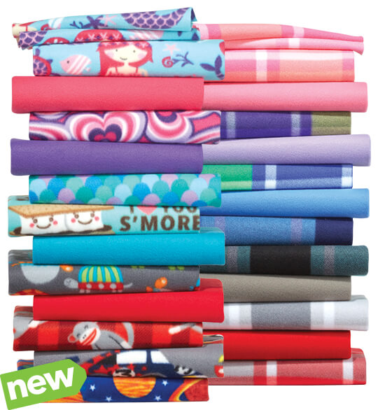 Blizzard Fleece Prints and Solids.