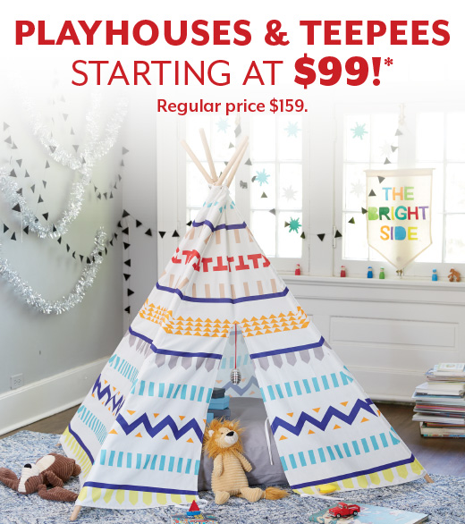 Shop Playhouses and Teepees Starting at $99