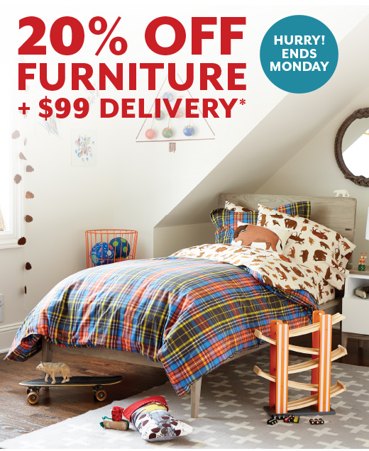 Shop 20% OFF Furniture Plus $99 Delivery