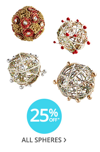 25% off* all spheres