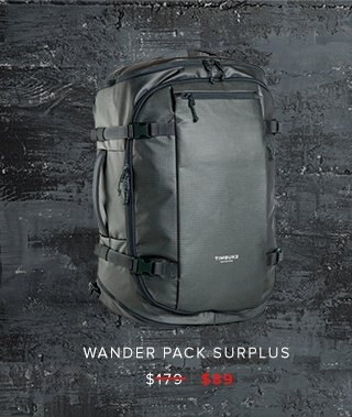 Wander Pack Surplus was $179 | now $89