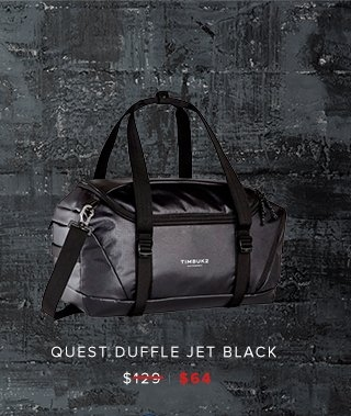 Quest Duffle Jet Black was $129 | now $64