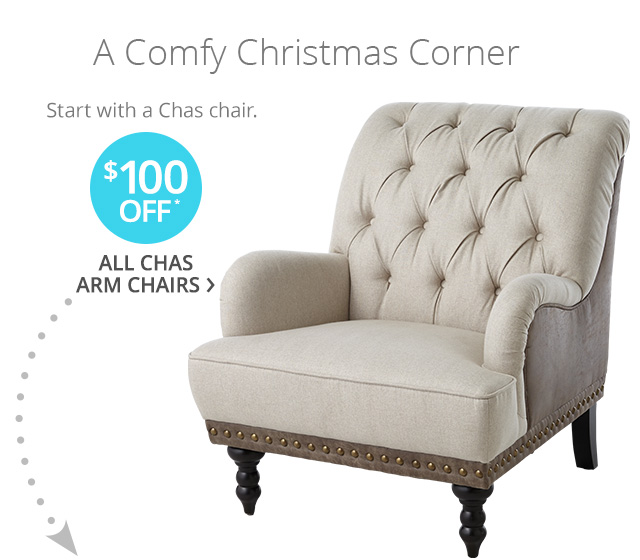 $100 off* all Chas arm chairs