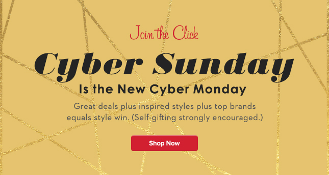 Sunday is the new Cyber Monday