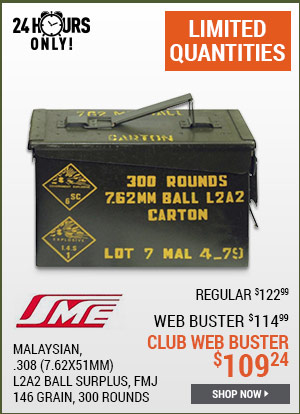 Malaysian .308 (7.62x51mm), L2A2 Ball Surplus, FMJ, 146 Grain, 300 Rounds