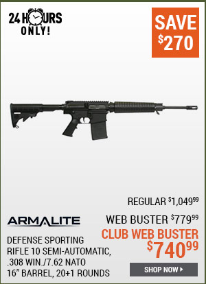 Armalite Defensive Sporting Rifle 10, Semi-Automatic, .308 Win./7.62 NATO, 16 Inch Barrel, 20+1 Rounds