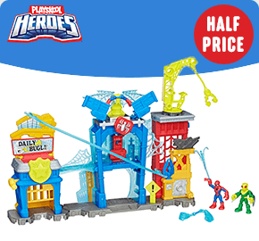 Playskool Heroes Super Hero Spider-Man Web-Quarters Playset