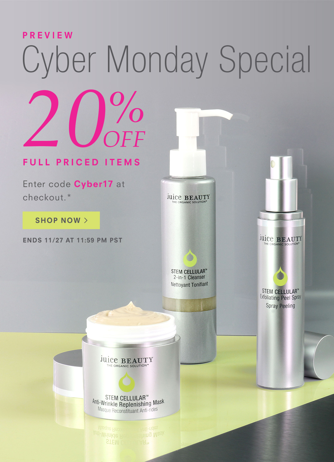 20% Off - Cyber Monday Special
