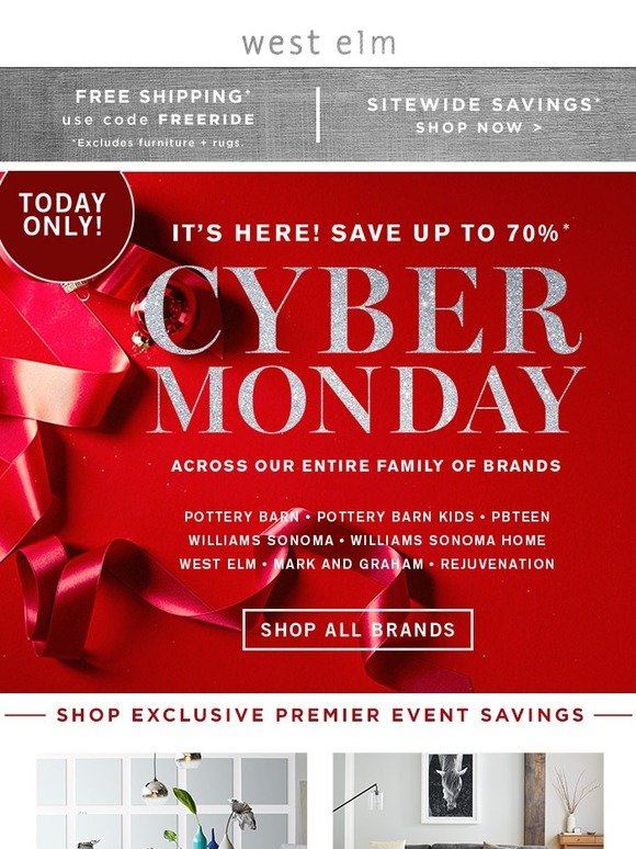 West Elm Official Announcement Up To 70 Off Cyber Monday And Goooo Milled