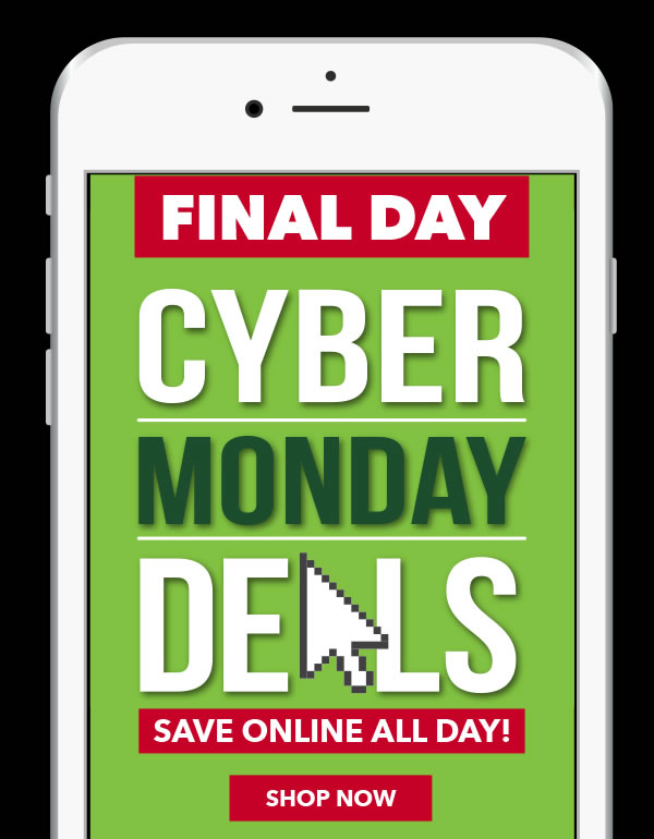 Final Day. Cyber Monday Deals.