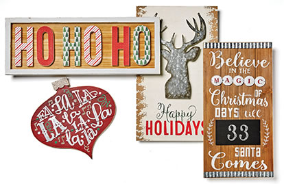 Entire Stock Holiday Wall Decor.