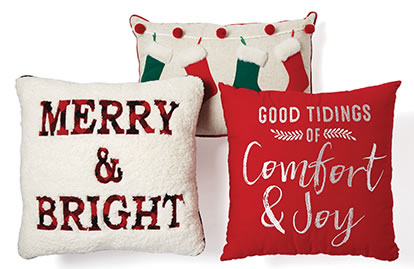 Entire Stock Holiday Pillows Includes Makers Holiday.