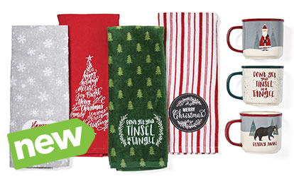 Entire Stock Holiday Camper Mugs and Hand Towels.