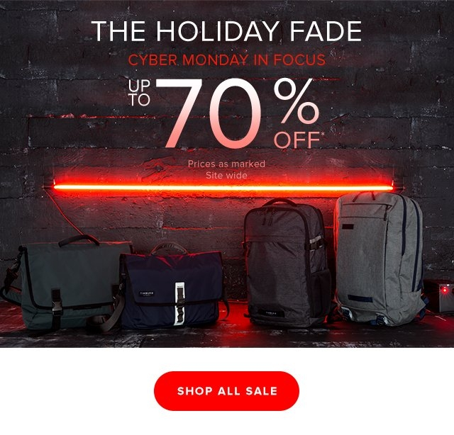 The Holiday Fade - Cyber Monday in Focus Up To 70% Off* Prices as marked. Site wide.  Shop All Sale