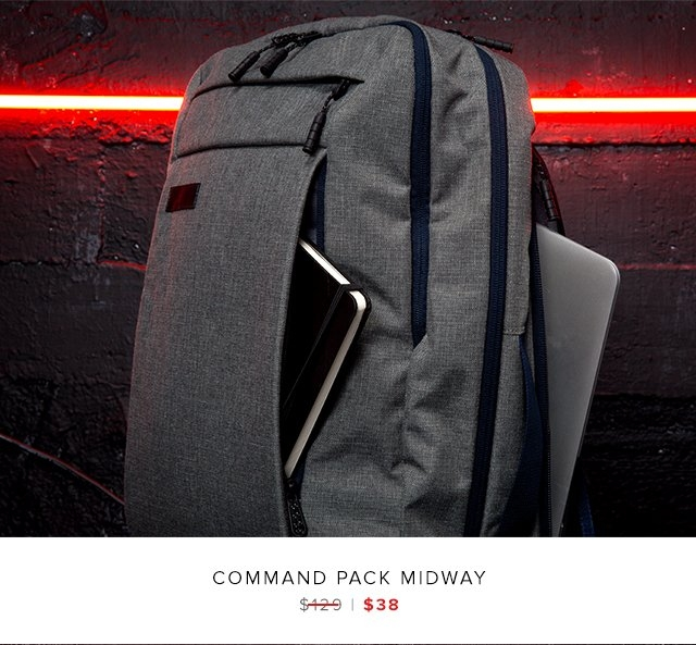 Command Pack Midway was $129 | now $38