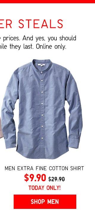CYBER STEALS - $9.90 Men Extra Fine Cotton Shirt - Shop Now