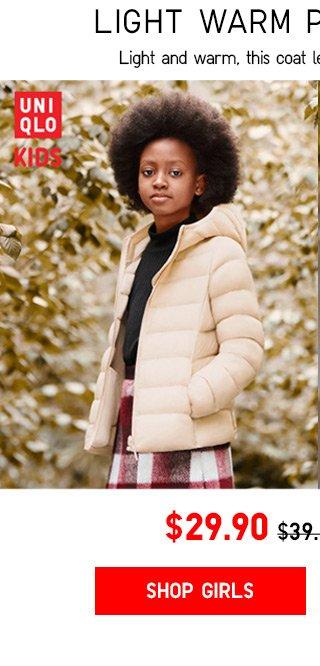 $29.90 Kids Light Warm Padded Parka - Shop Girls