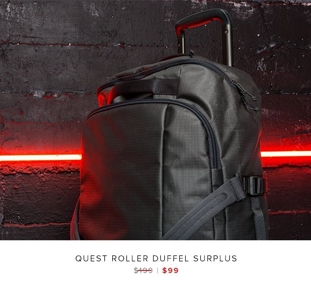 Quest Roller Duffel Surplus was $199 | now $99