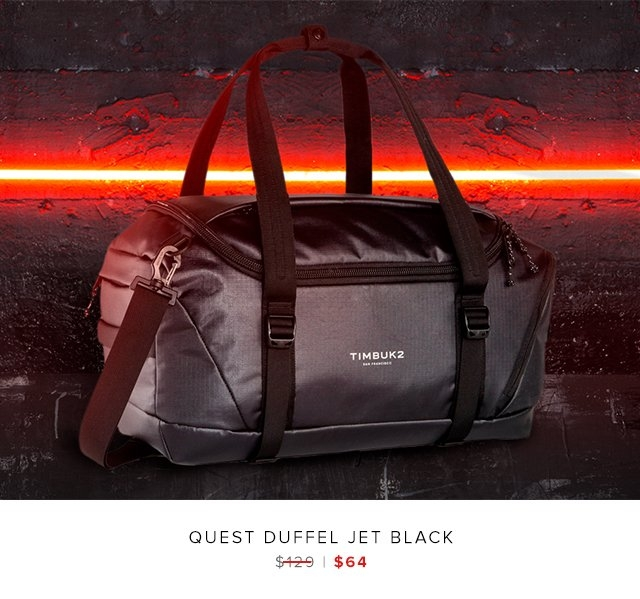 Quest Duffel Jet Black was $129 | now $64